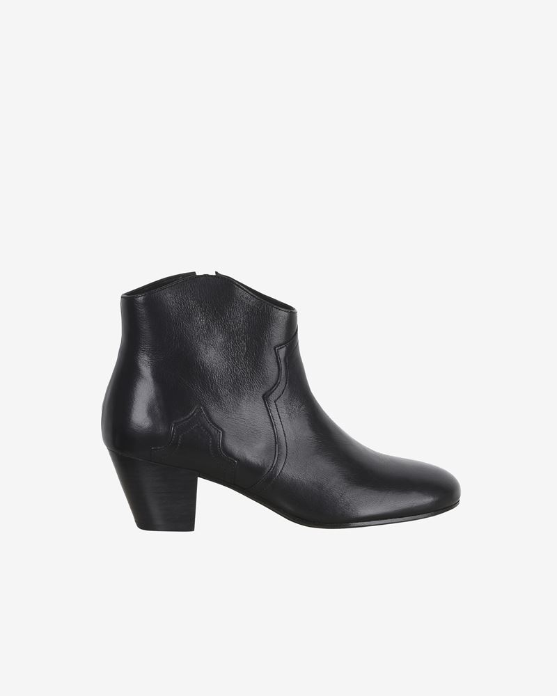 Dicker Leather mid heel ankle boots ISABEL MARANT