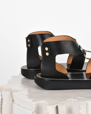 ISABEL MARANT SANDALS D Nindle Smooth leather sandals d