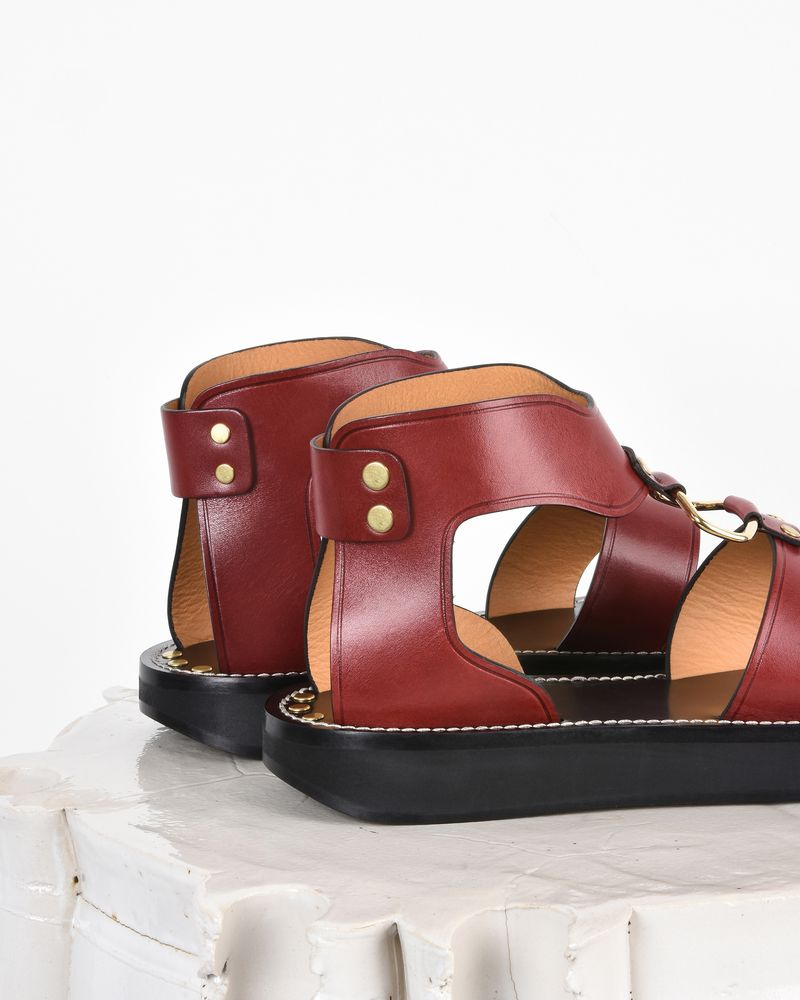 Nindle Smooth leather sandals  ISABEL MARANT