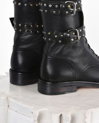 ISABEL MARANT BOOTS D Teylon Ranger style studded leather ankle boots d