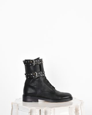 Teylon Ranger style studded leather ankle boots