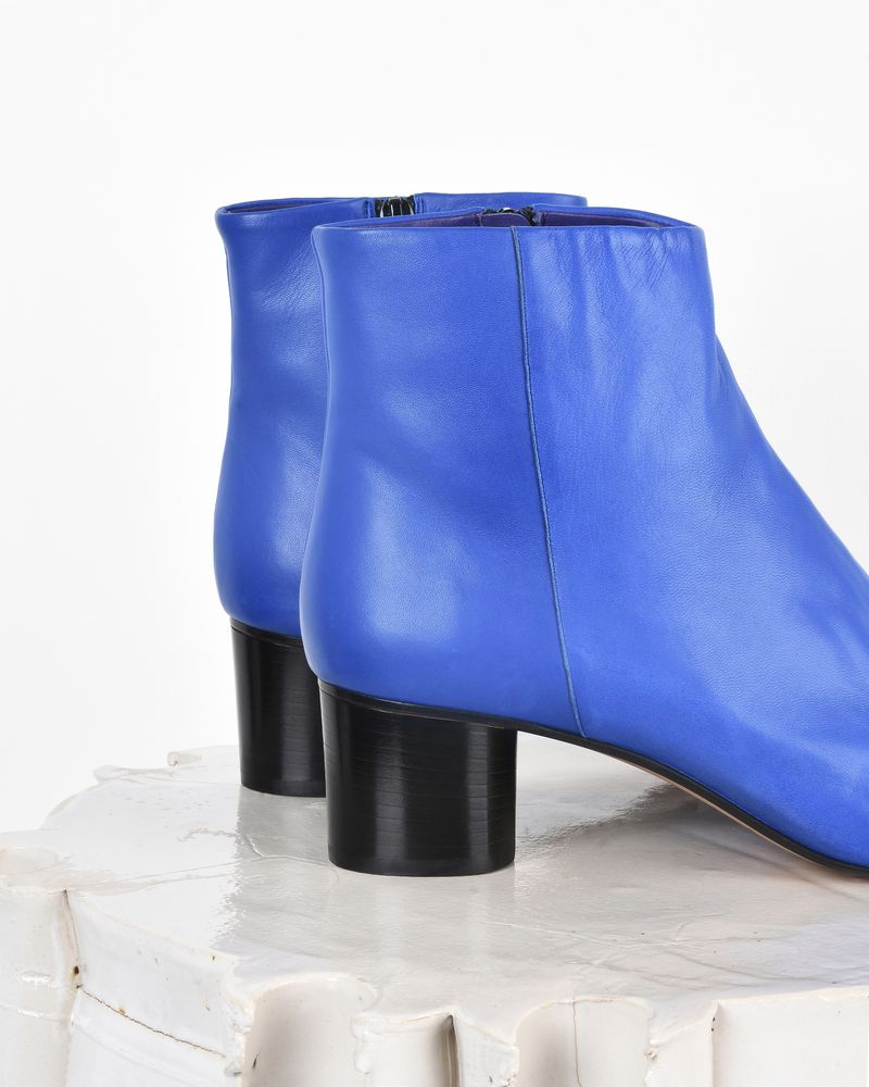 Danay Leather mid-heel ankle boots  ISABEL MARANT