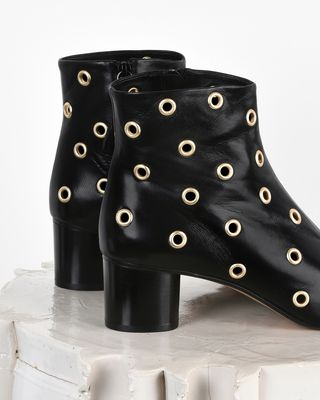ISABEL MARANT BOOTS Woman Danay Eyelet detail leather mid heel ankle boots d