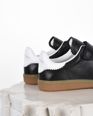 ISABEL MARANT SNEAKERS Woman Beth Suede and leather Velcro sneakers d