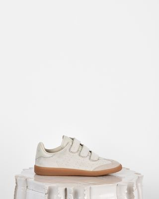 Beth Suede and leather Velcro trainers