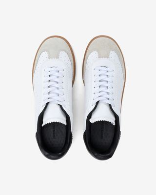 ISABEL MARANT SNEAKERS Woman Bryce Suede and leather lace up trainers d
