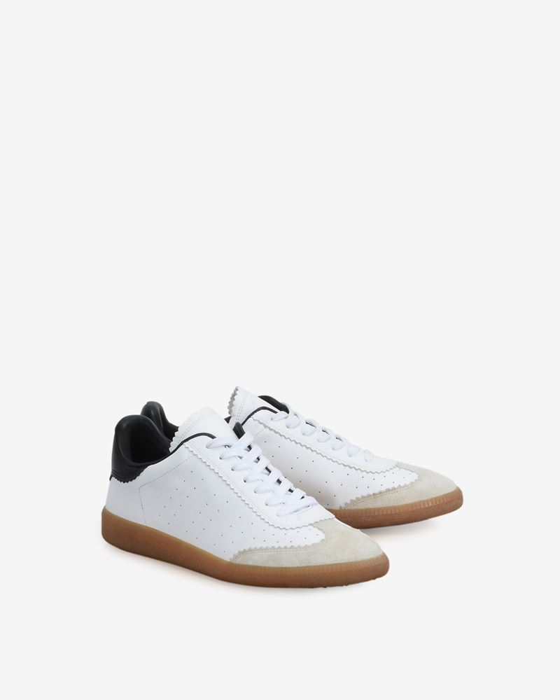 Bryce Leather and suede lace up sneakers ISABEL MARANT