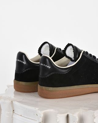 ISABEL MARANT SNEAKERS Woman Bryce Suede and leather lace up sneakers d