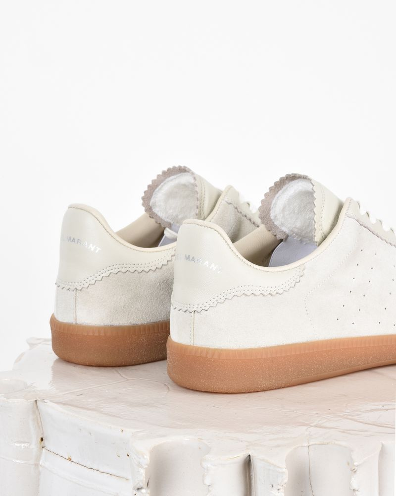 Bryce Suede and leather lace up trainers ISABEL MARANT