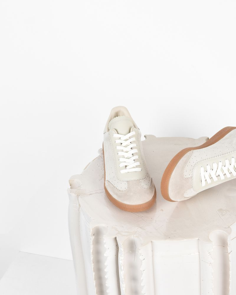 Bryce Suede and leather lace up sneakers ISABEL MARANT