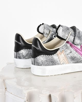 ISABEL MARANT SNEAKERS Woman Beth Iridescent leather Velcro sneakers d