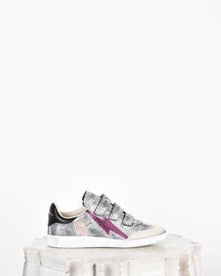 Beth Iridescent leather Velcro sneakers