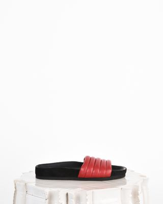 Hellea Leather quilted sandals