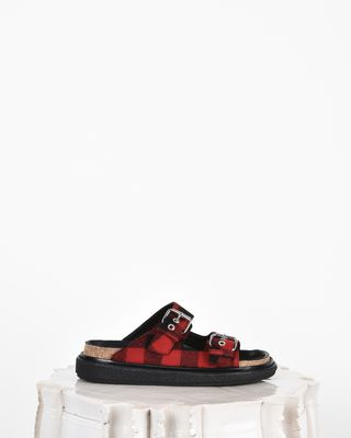 Ledkin Wool double strap flat sandals