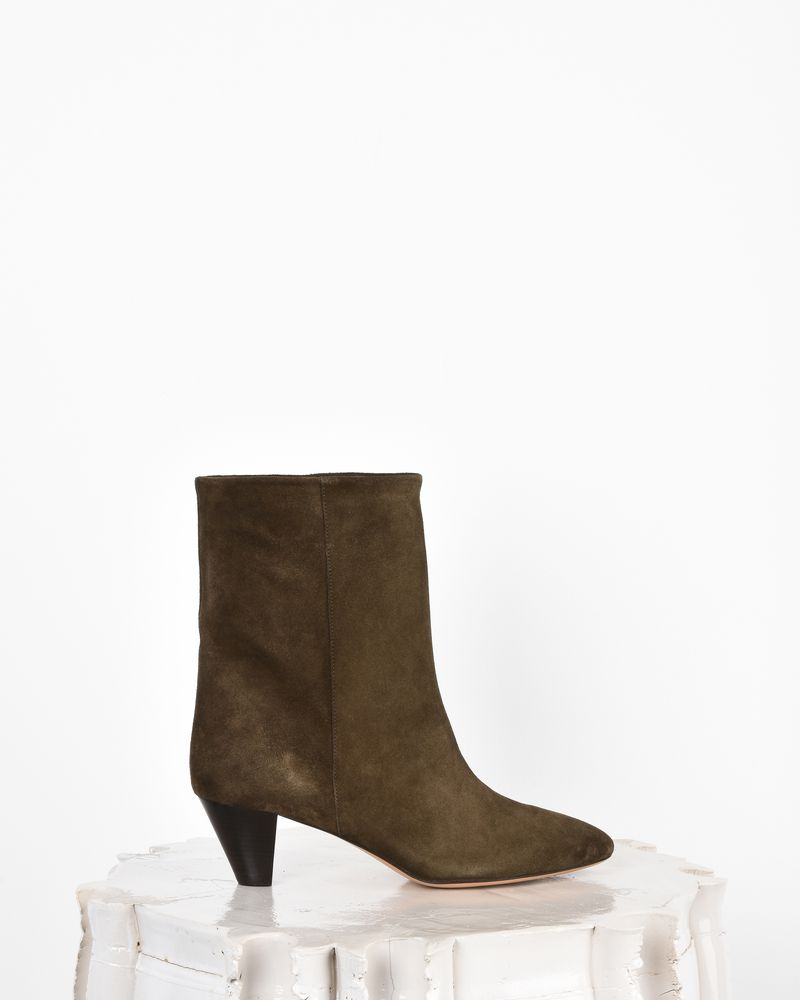 Dyna Suede mid-heel ankle boots 613c1ff70fca