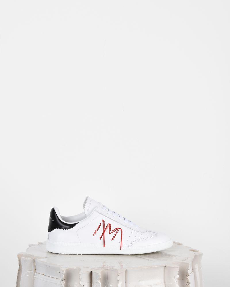 Bryce 刺绣皮革系带运动鞋 ISABEL MARANT