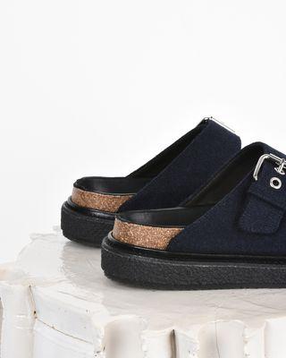 ISABEL MARANT SANDALS D Ledkin Wool double strap flat sandals d