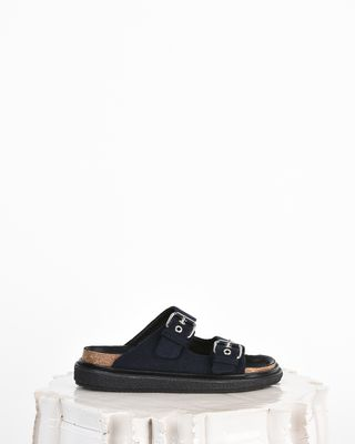 Ledkin Wool double-strap flat sandals
