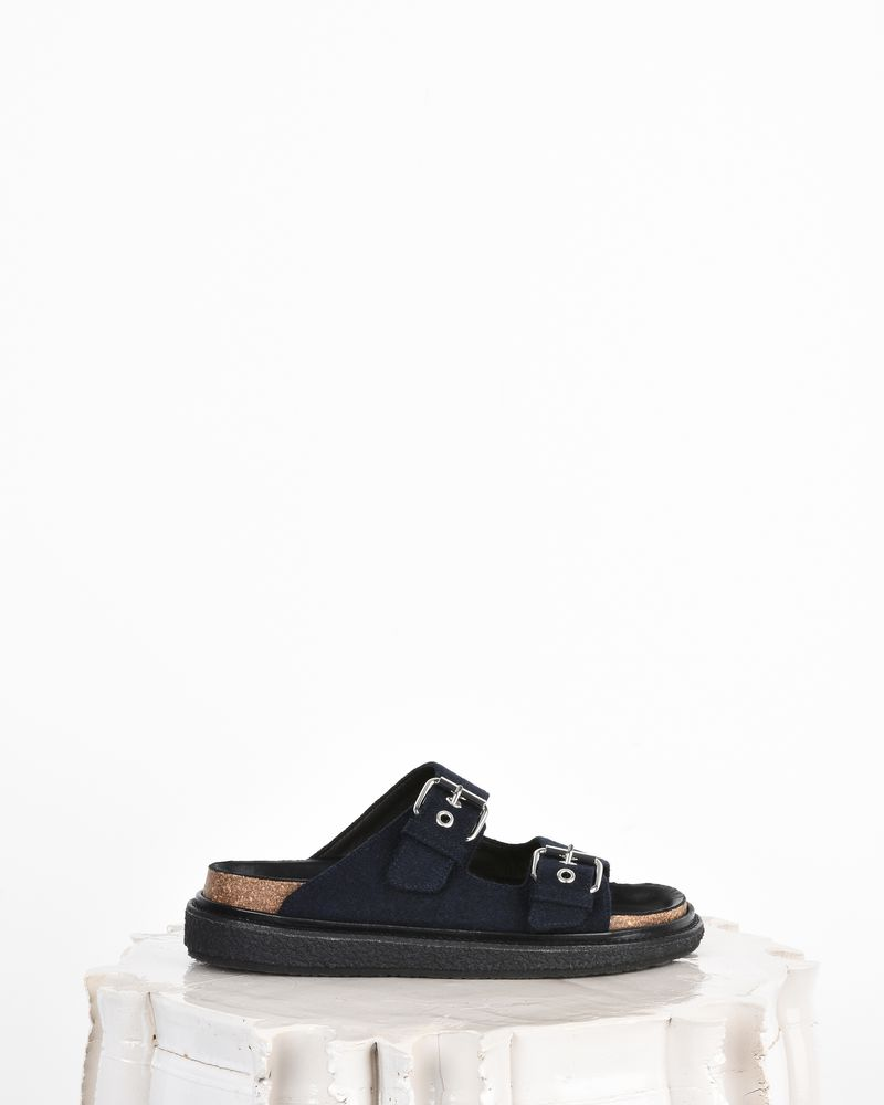 Ledkin Wool double-strap flat sandals  ISABEL MARANT