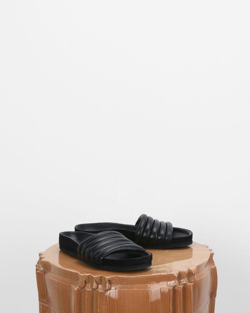 Sandales matelassées en cuir Hellea ISABEL MARANT