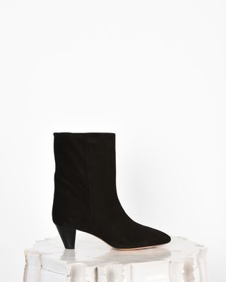 Dyna Suede mid heel ankle boots