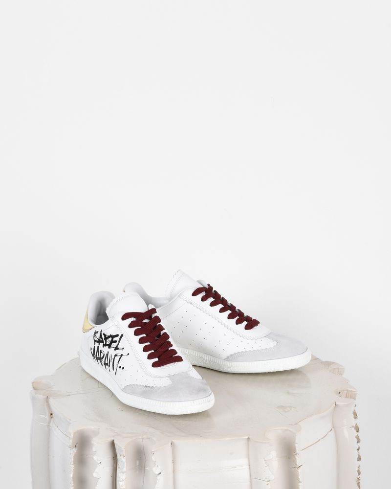 Bryce Printed leather and suede lace up sneakers ISABEL MARANT