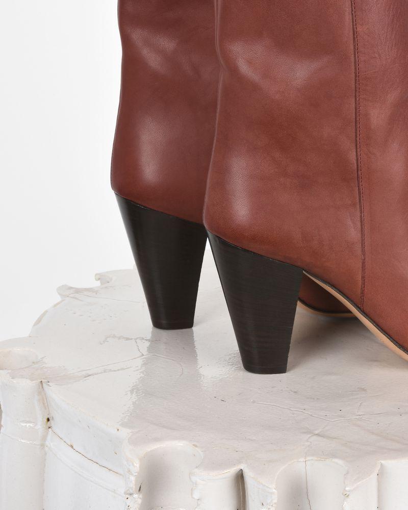 Darilay 皮革高跟踝靴  ISABEL MARANT