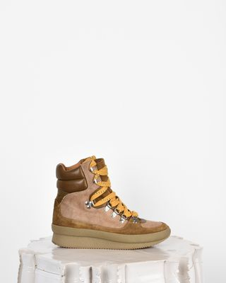 Brendty High top lace-up trainers
