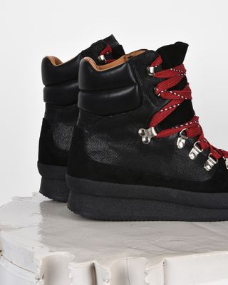 ISABEL MARANT SNEAKERS D Brendty High top lace-up trainers d