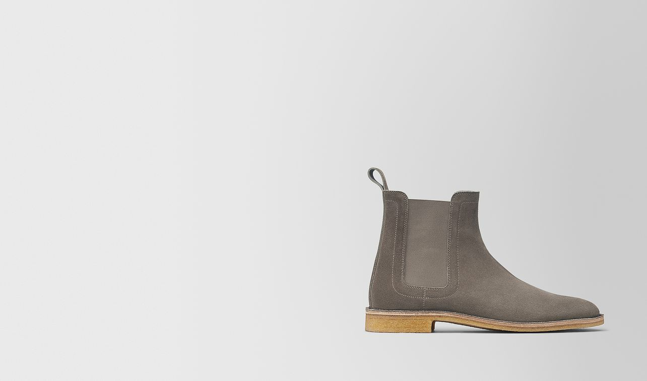 voortrekking boot in steel suede landing