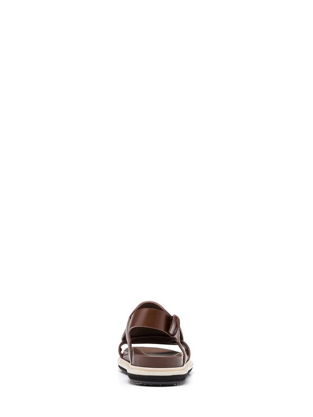 Marni Two-band sandal in calfskin Woman
