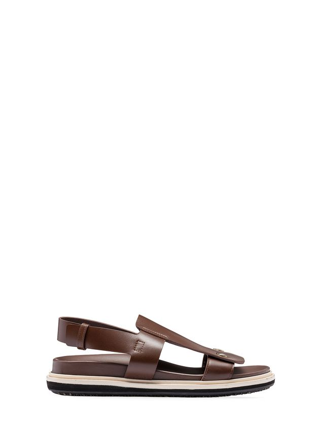 Marni Two-band sandal in calfskin Woman - 1