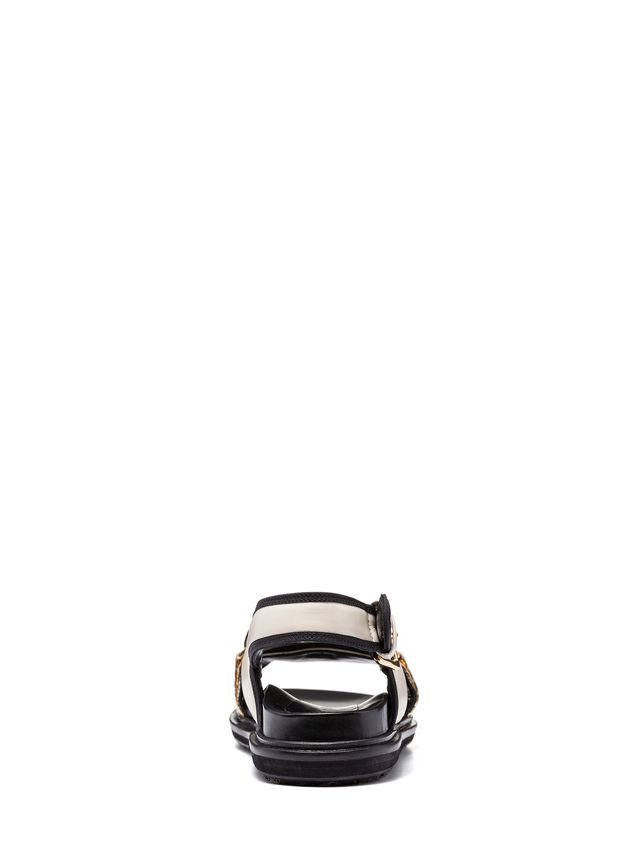 Marni Criss-cross fussbett in nappa Woman