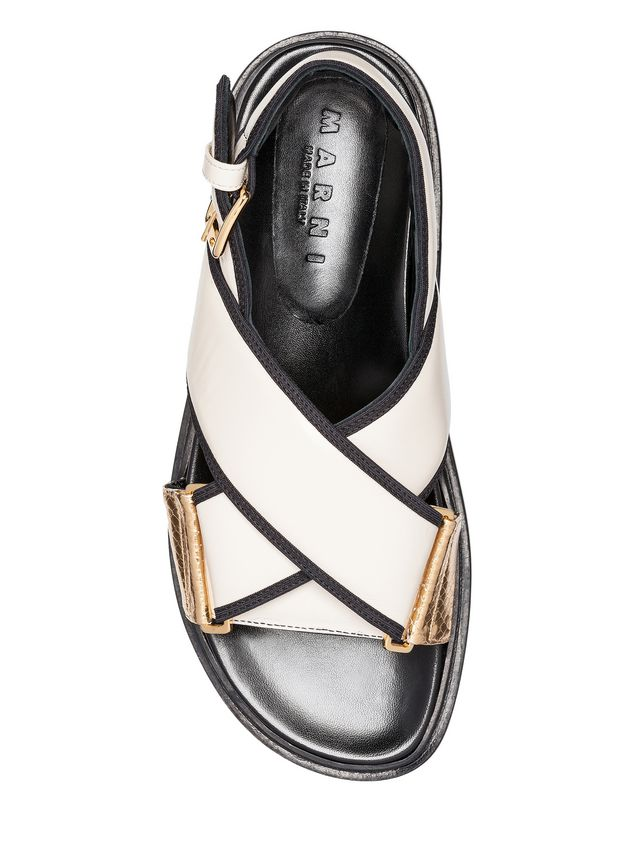 Marni Crossover Fussbett in nappa leather Woman - 4