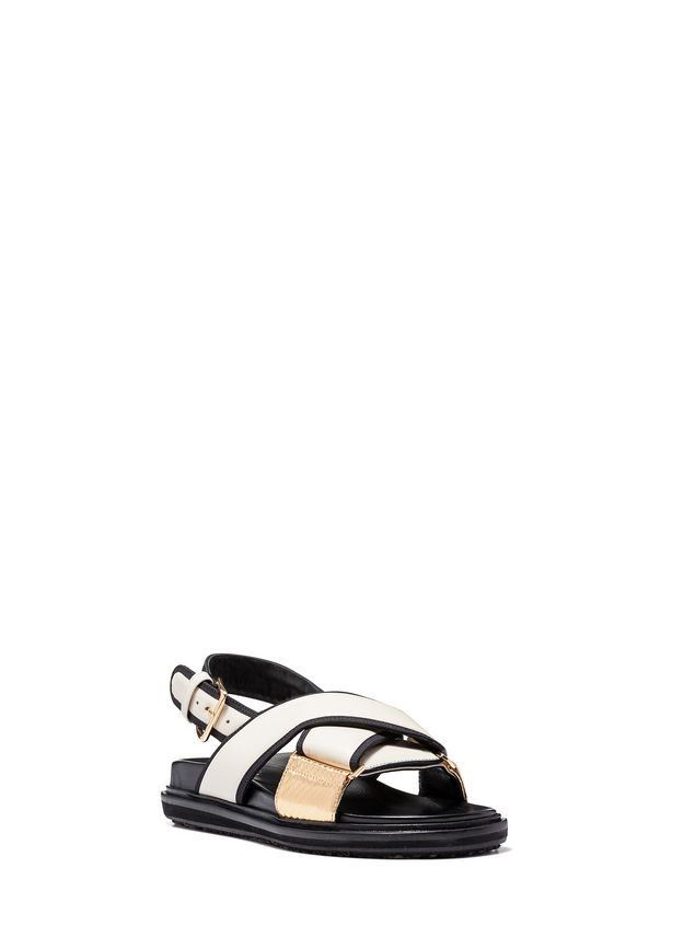 Marni Criss-cross fussbett in nappa Woman - 2