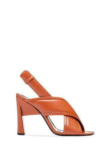 Marni Criss-cross sandal in nappa Woman