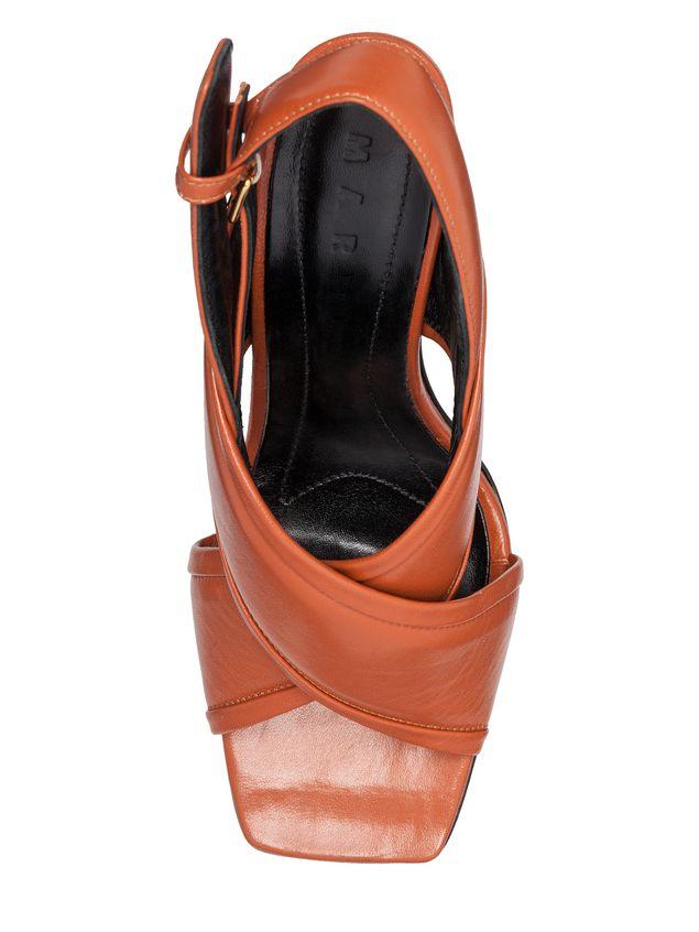 Marni Criss-cross sandal in nappa Woman - 4