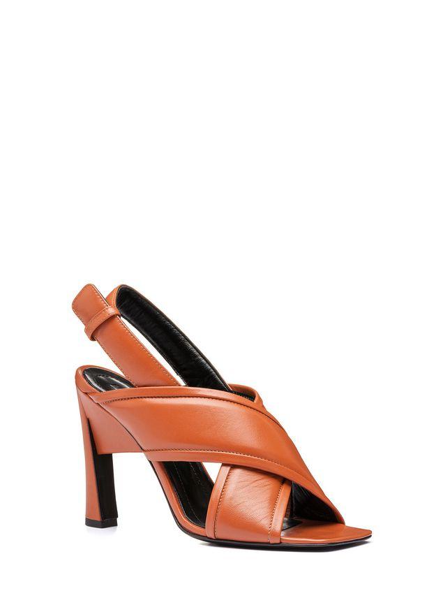 Marni Criss-cross sandal in nappa Woman - 2