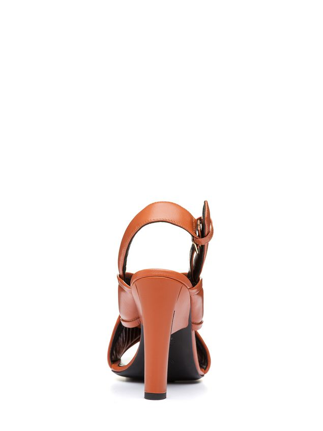 Marni Criss-cross sandal in nappa Woman - 3