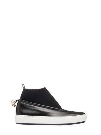Marni Sock sneaker in nappa black Woman