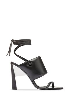 Marni Lacing sandal in nappa black Woman