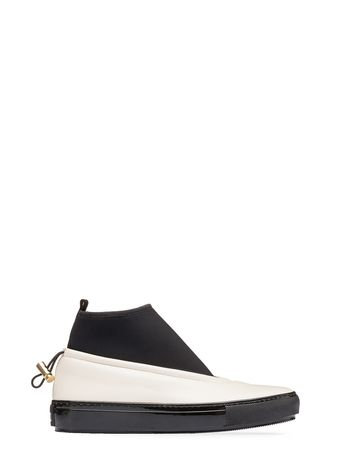 Marni Sock sneaker in lambskin white Woman