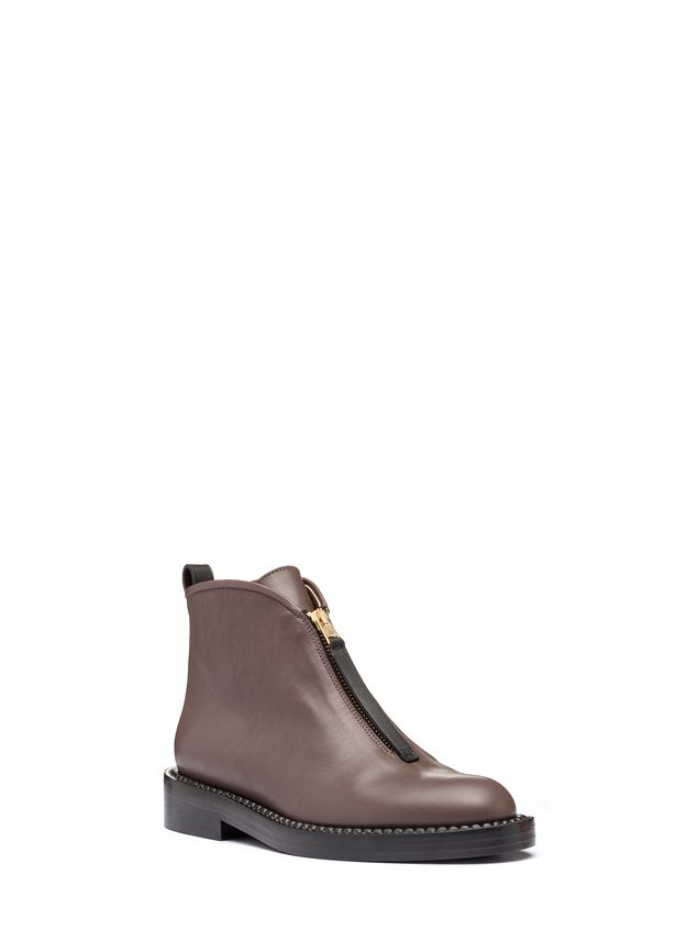 Marni Zip ankle boot in calfskin Woman - 2