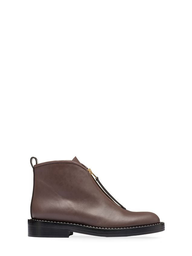 Marni Zip ankle boot in calfskin Woman - 1