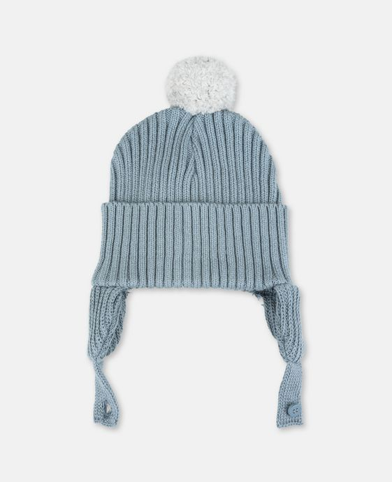 Sherry Blue Pom Pom Hat