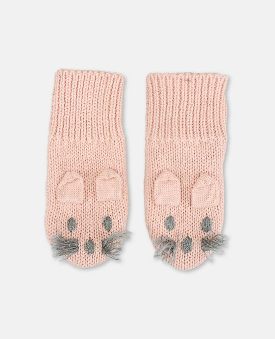 Mopsey Pink Mittens
