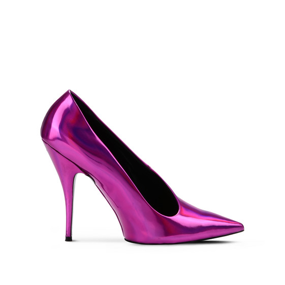 Steel Fuchsia Pointed Pumps