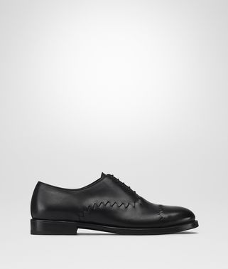 REYN LACE UP IN NERO CALF, INTRECCIATO