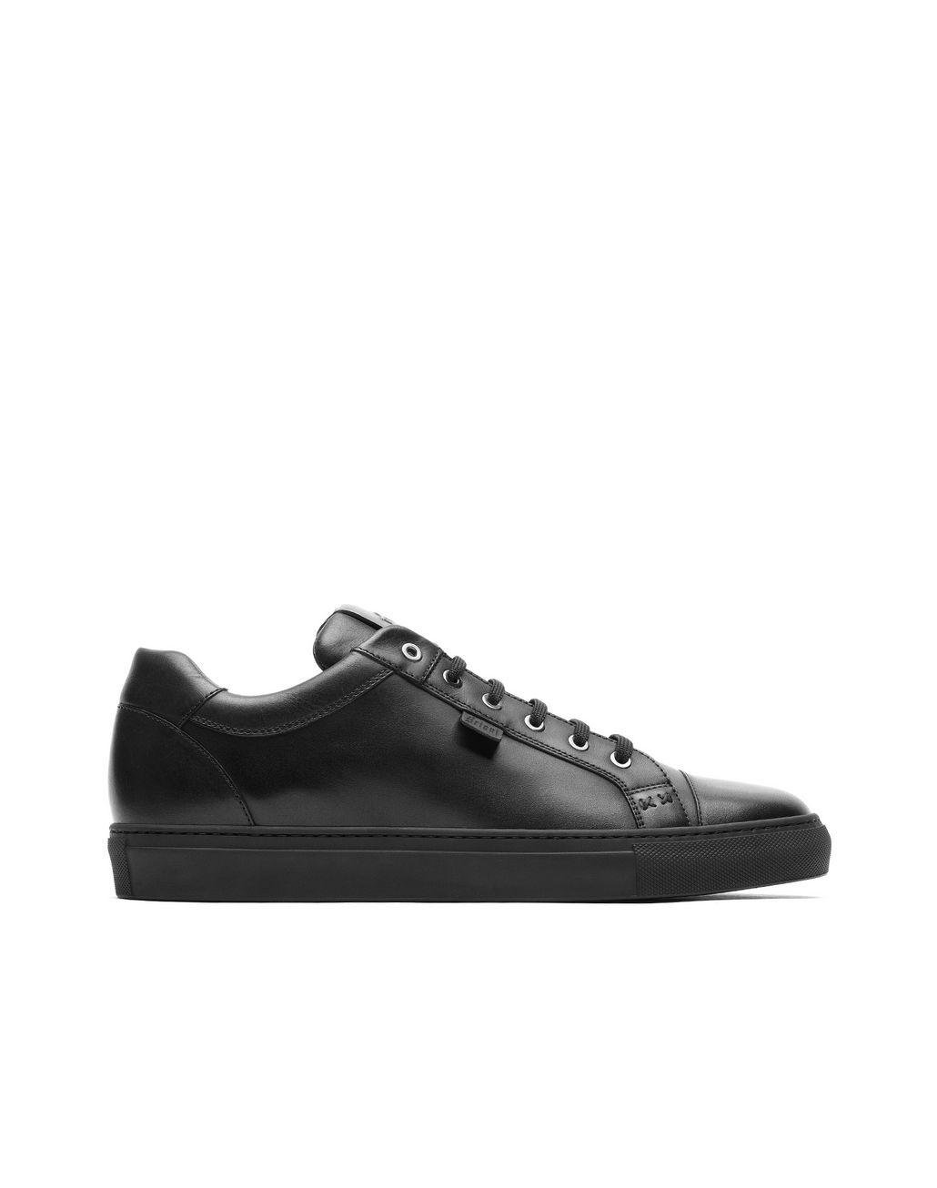 BRIONI Black Calfskin Sneakers Sneakers Man f