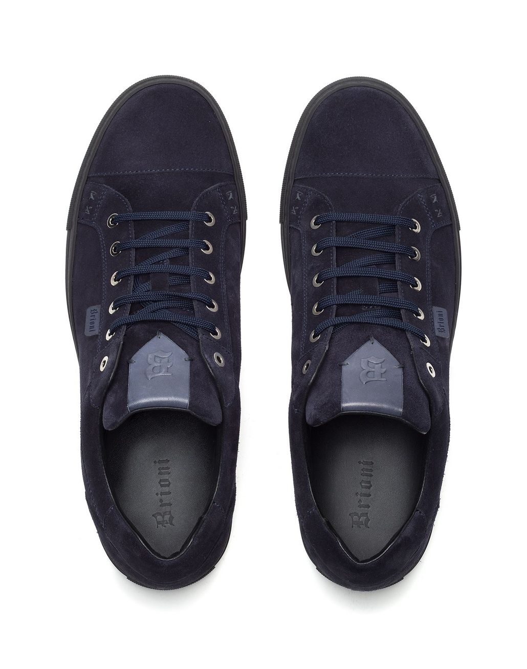 BRIONI Blue Suede Sneakers Sneakers [*** pickupInStoreShippingNotGuaranteed_info ***] r